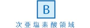 B : 次亜塩素酸領域
